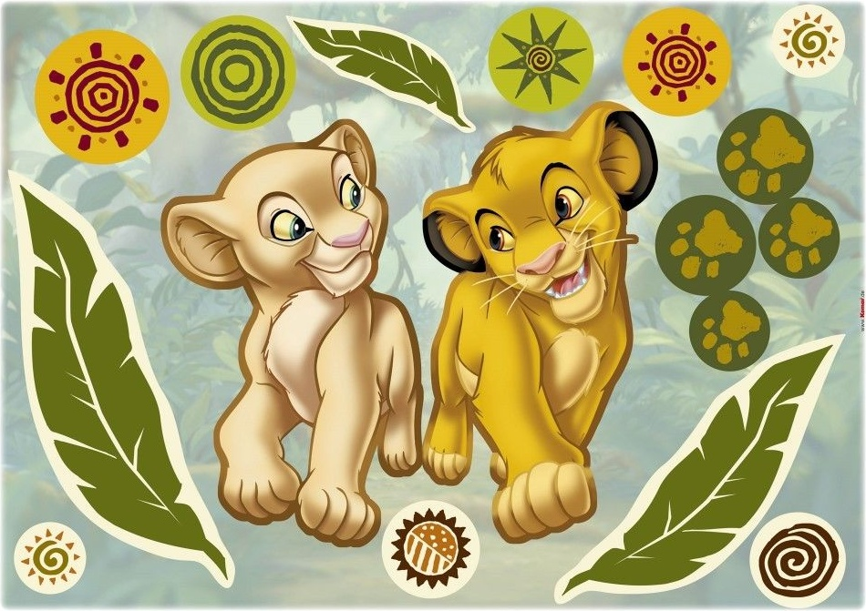 Komar Deco-Sticker Simba and Nala Bild 1