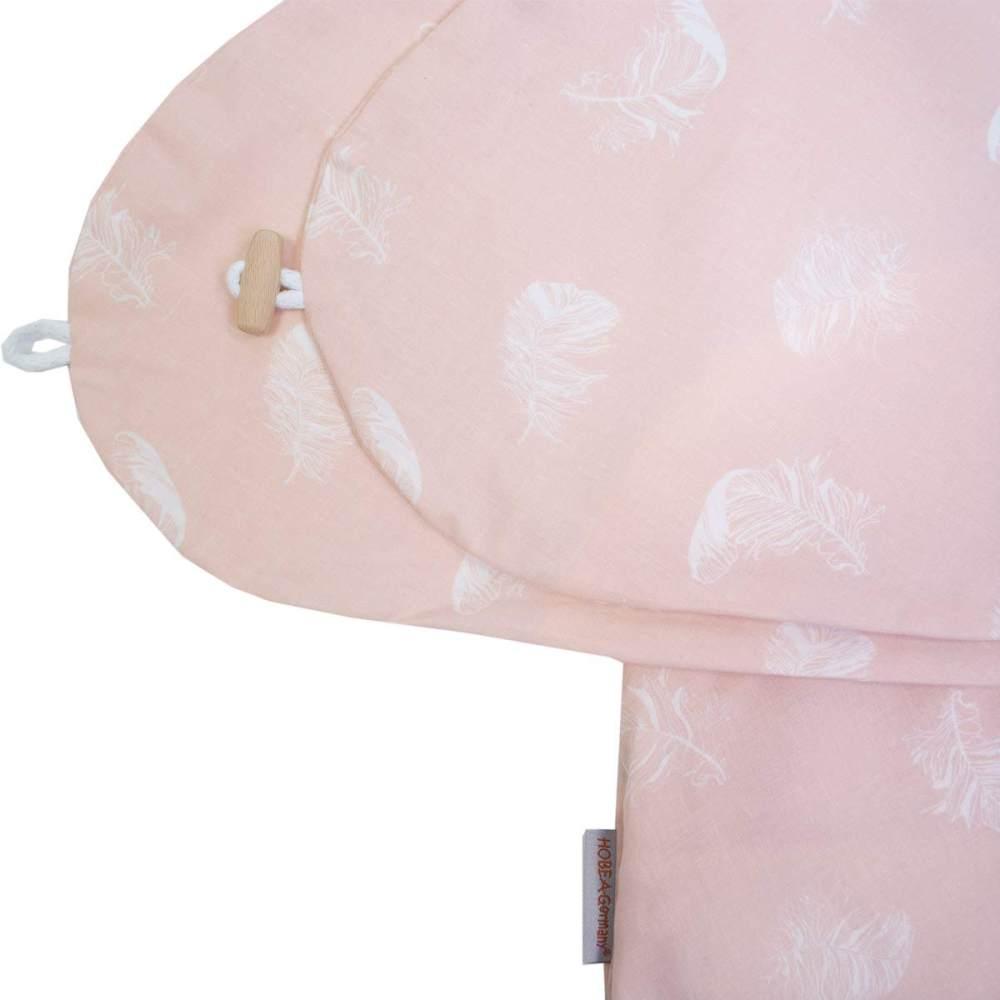 Hobea 'Federn' Stillkissenbezug für Stillkissen 190 cm rosa Bild 1