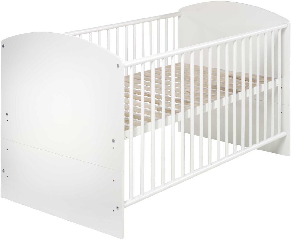 Schardt 'Classic White' Kombi-Kinderbett 70x140 cm weiß Bild 1