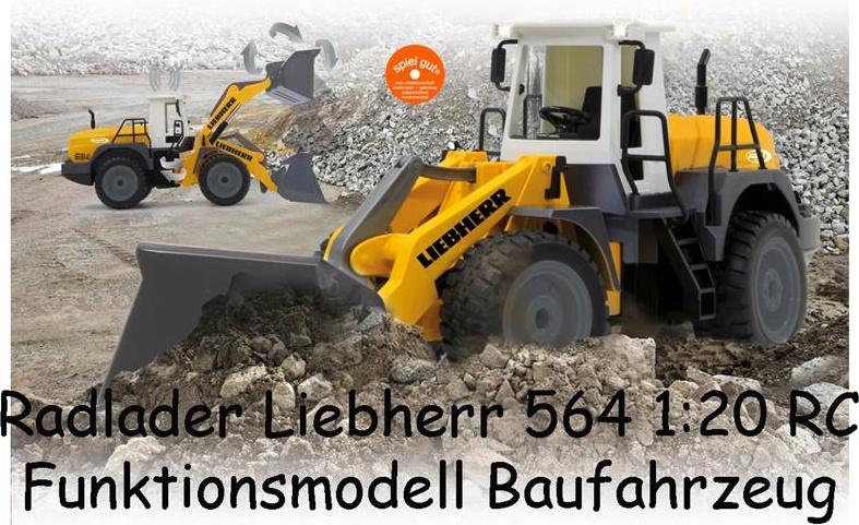 Jamara Radlader Liebherr 564 1:20 RC Einsteiger Funktionsmodell Baufahrzeug Bild 1