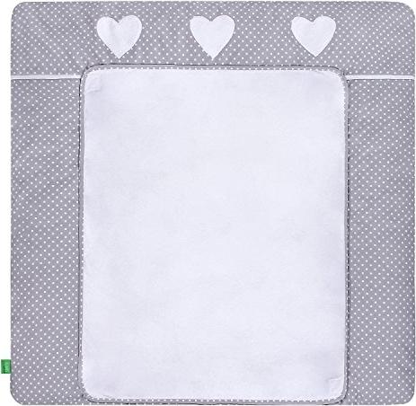 LULANDO Wickelauflage 76 x 76 cm White Dots/Grey, grau/weiß Bild 1