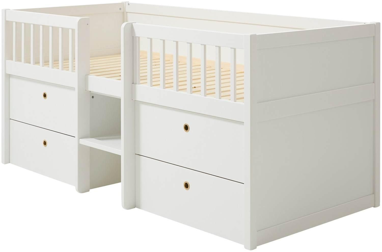 FLEXA 'Freja' Stauraumbett, Weiß, inkl. Lattenrost mit 2 Schubladen und 2 Spielzeugboxen Bild 1