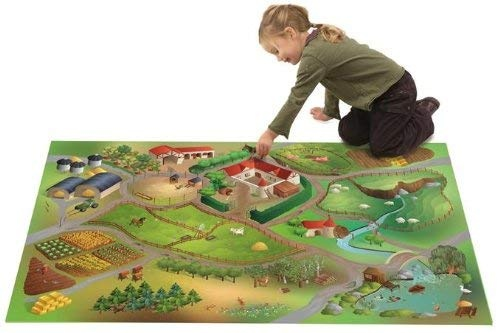 House of Kids 11223-E3 - Playmat Quadri Ferme Connect, 100 x 150 cm Bild 1