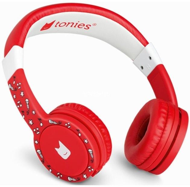 Tonies 'Tonie-Lauscher' Rot, Kinder-Kopfhörer passend zur Toniebox, Lautstärke reguliert, abnehmbares Kabel, größenverstellbar, bewegliche Ohrmuscheln Bild 1