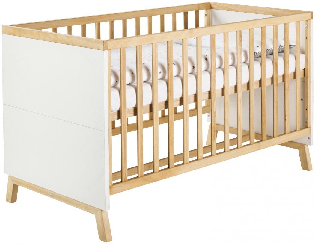 Schardt 'Miami White' Kombi-Kinderbett 70x140 cm, weiß, 3-fach höhenverstellbar, 3 Schlupfsprossen Bild 1