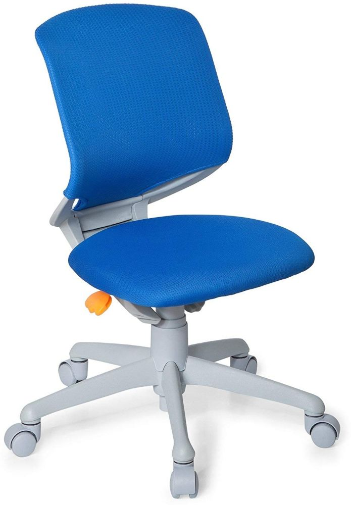 hjh OFFICE 712020 Kinder-Schreibtischstuhl Kid Move Grey Netzstoff Blau/Grau Drehstuhl ergonomisch, Rückenlehne verstellbar Bild 1