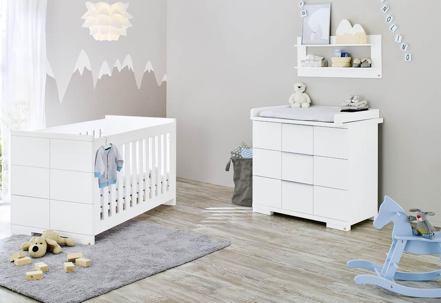 Pinolino 'Polar' 2-tlg. Babyzimmer-Set weiß Bild 1
