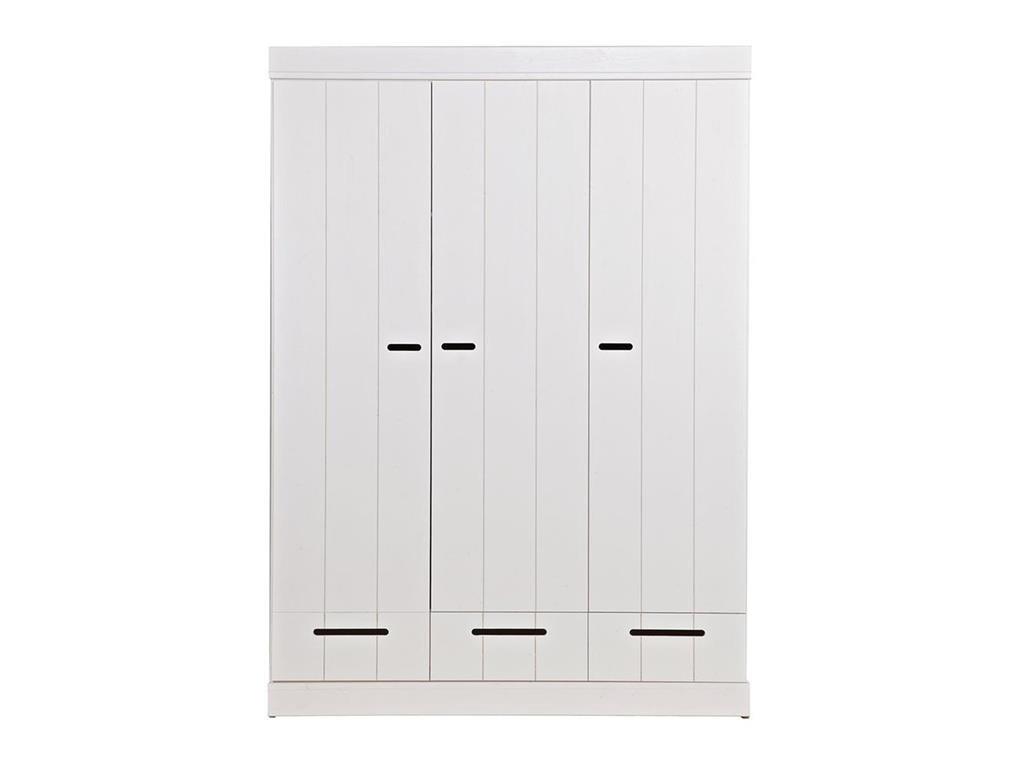 Carryhome Kleiderschrank 3 -türig weiß Bild 1