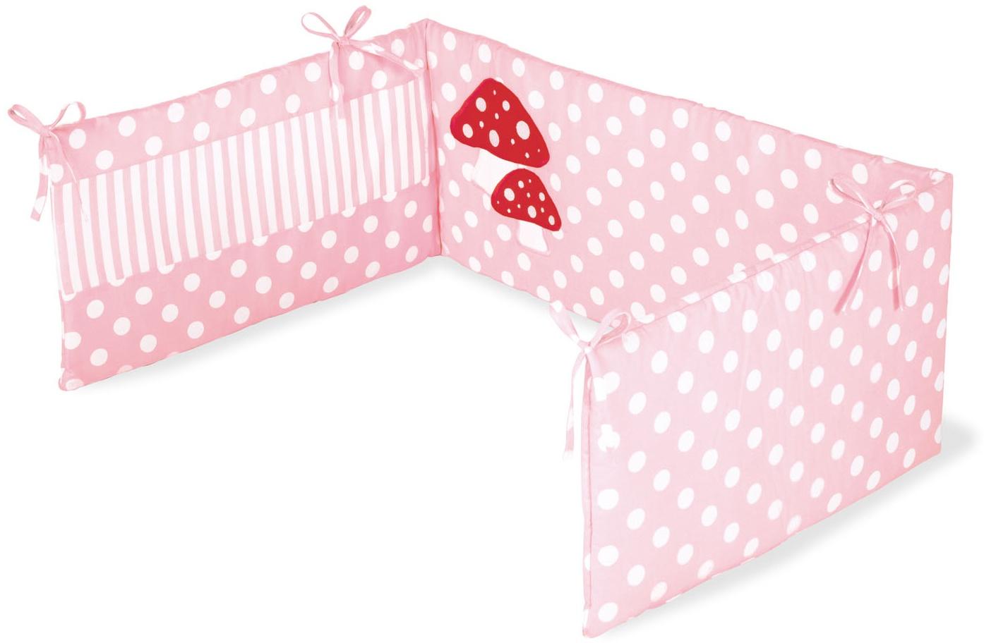 Pinolino 'Glückspilz' Bettnestchen rosa Bild 1