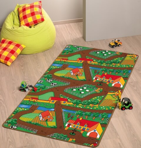 Spielteppich Farm 100 x 165 cm Bild 1