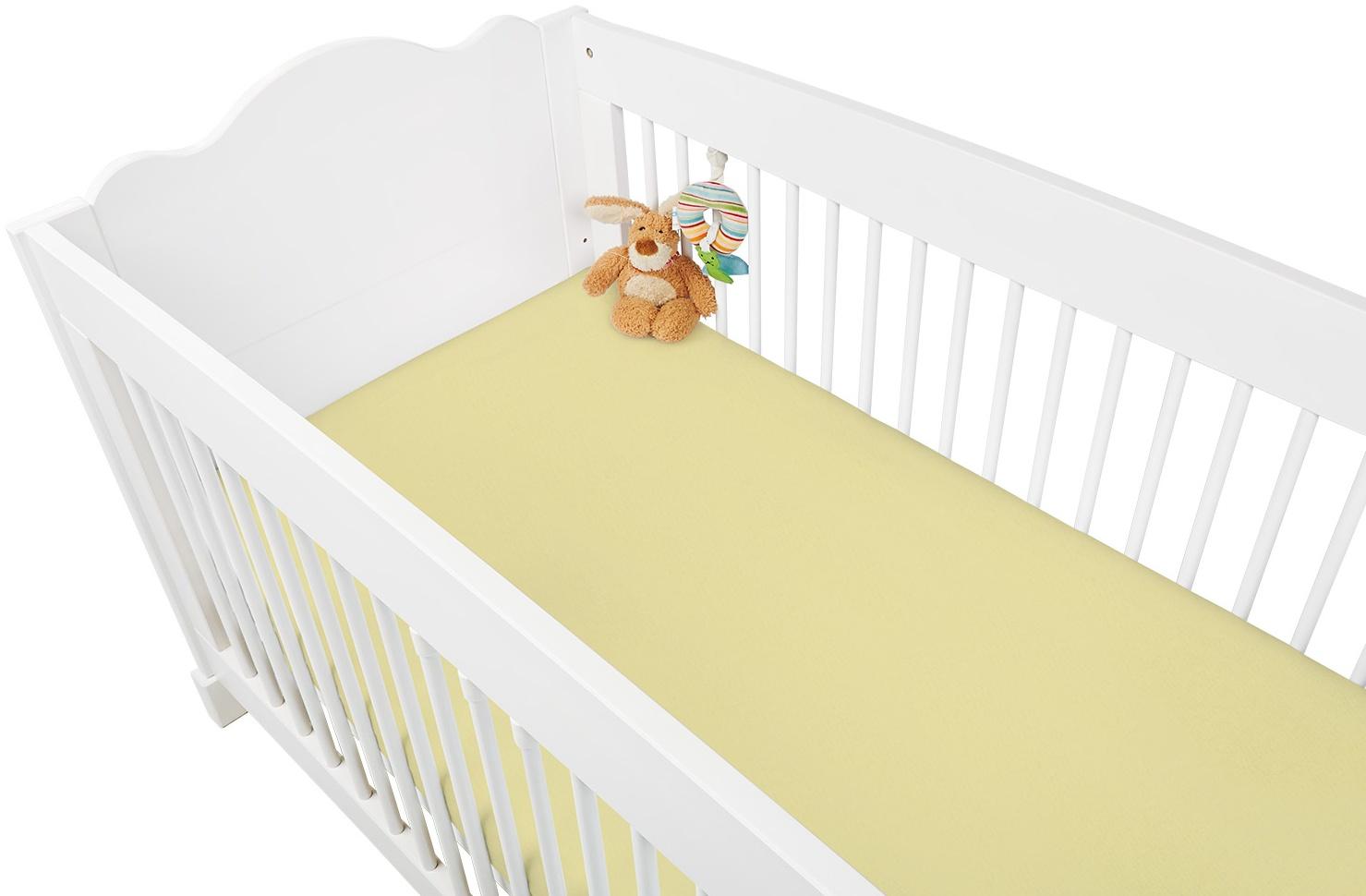 Pinolino Spannbettlaken Jersey 2-er Pack,gelb,60x120/70x140cm Bild 1