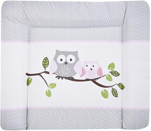 Zöllner Softy Wickelauflage kleine Eulen rosa 75 x 85 cm Bild 1