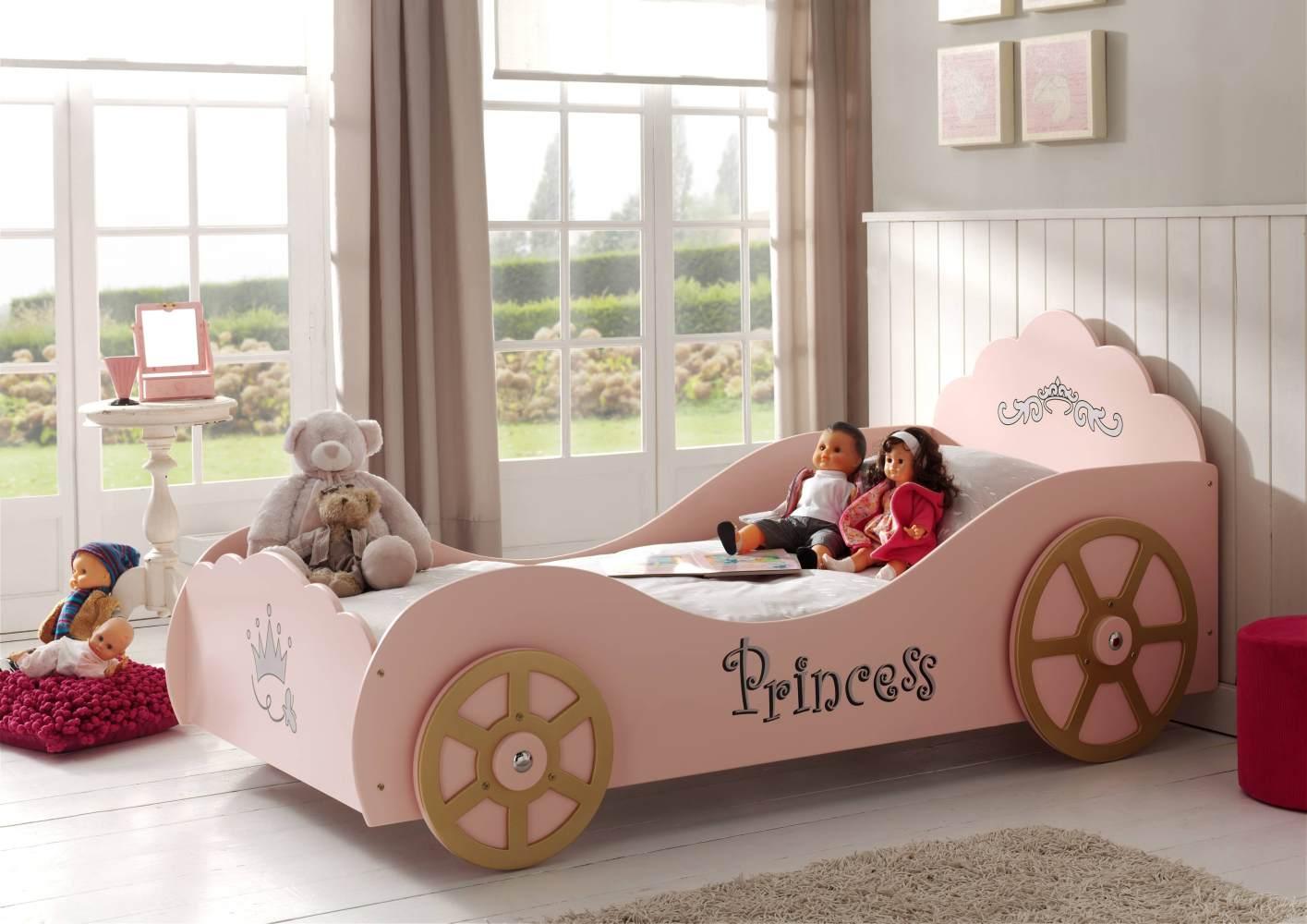 Vipack 'Prinzessin' Kutschenbett rosa Bild 1