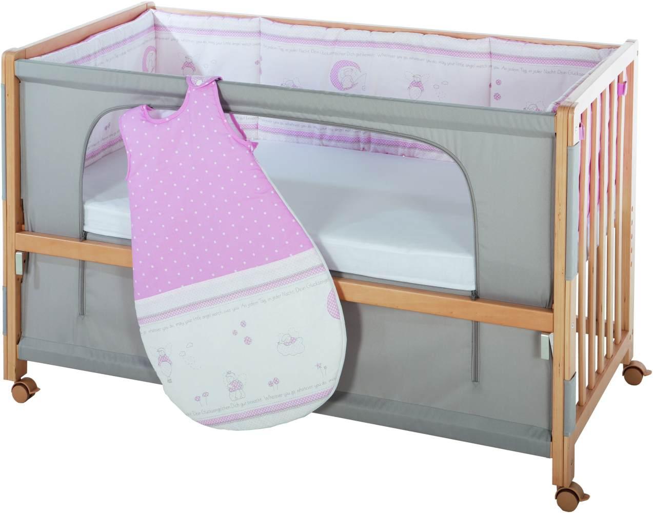 Roba 'Room Bed' Beistellbett natur, inkl. Ausstattung 'Glücksengel' Bild 1