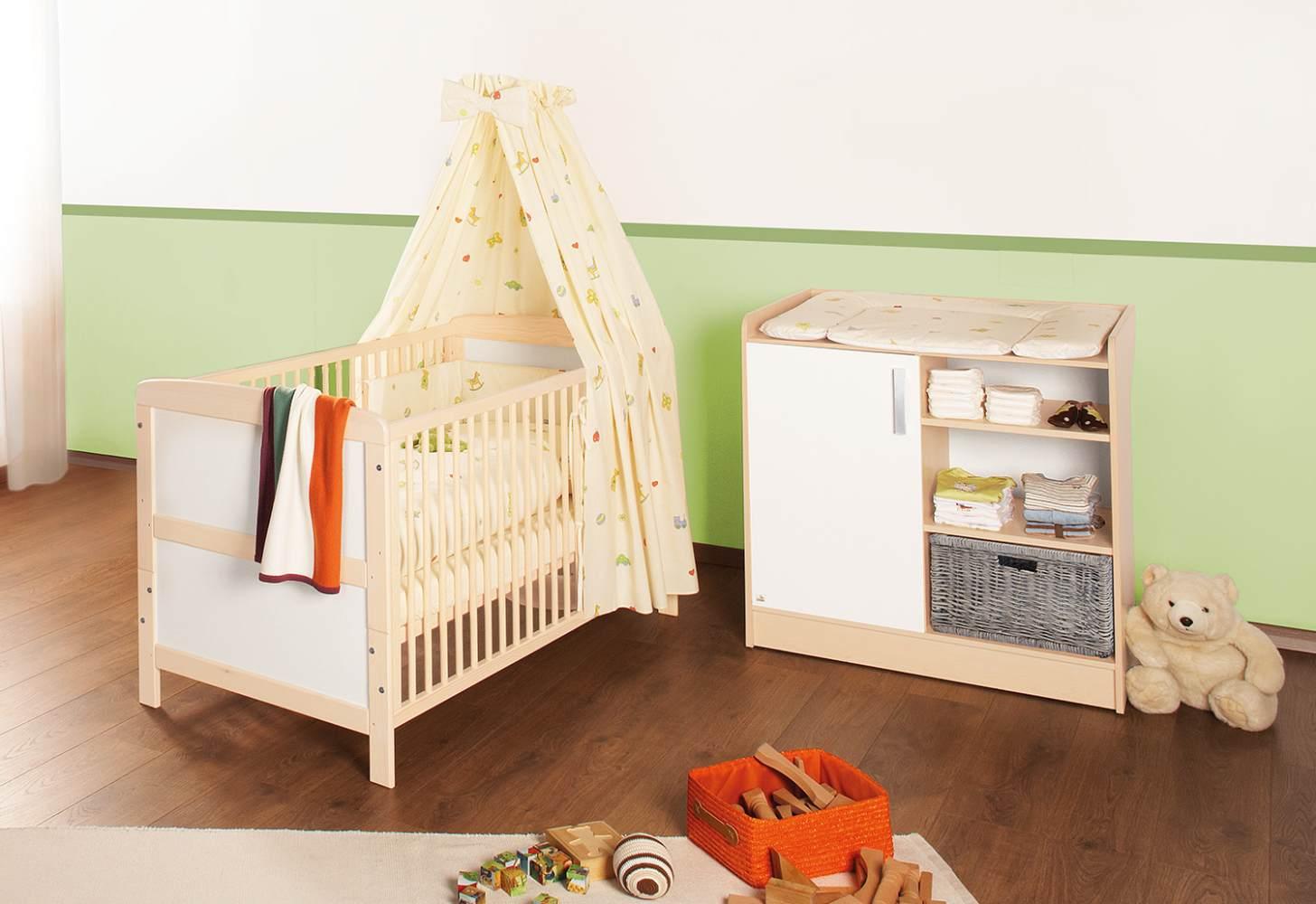 Pinolino 'Florian' 2-tlg. Babyzimmer-Set beige/weiß Bild 1