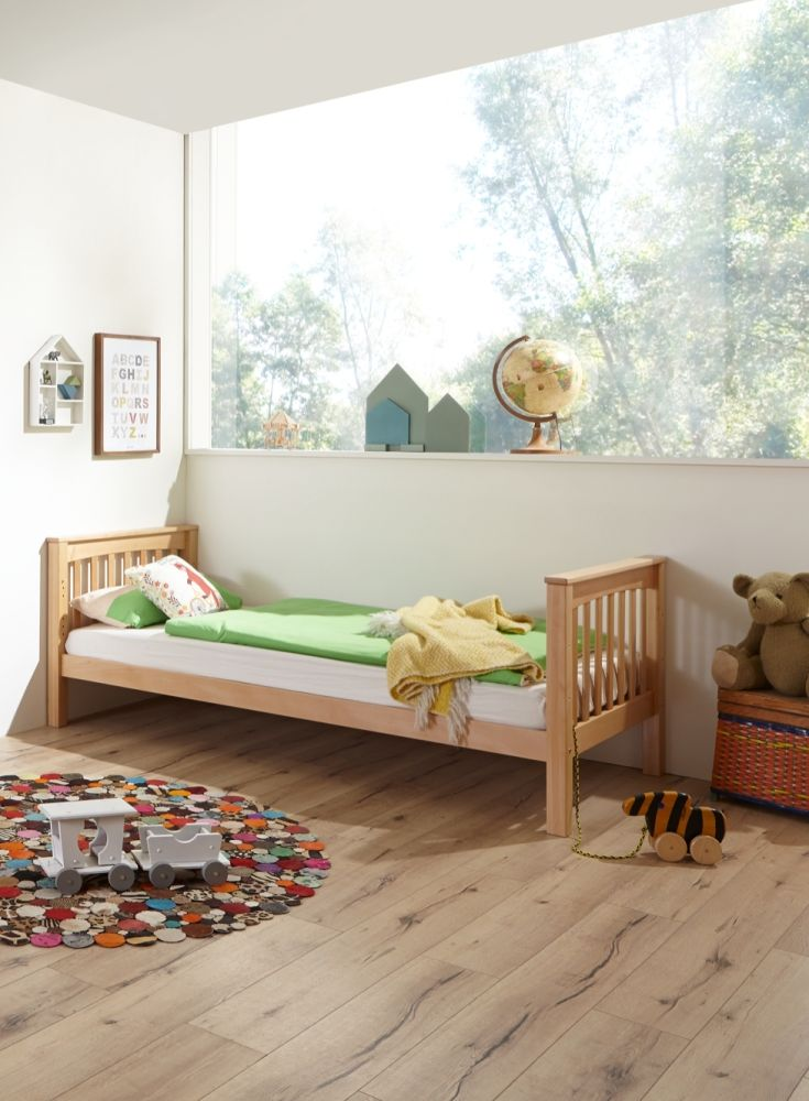 Relita Kinderbett Einzelbett Kick 90x200 cm Buche massiv Natur Bild 1