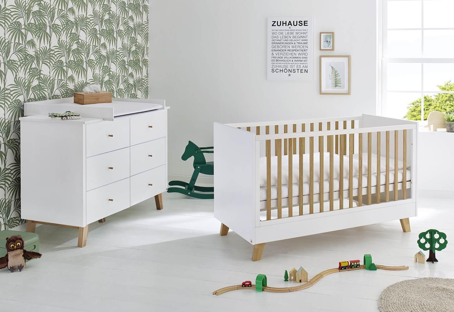 Pinolino 'Pan' 2-tlg. Babyzimmer-Set weiß, breit Bild 1