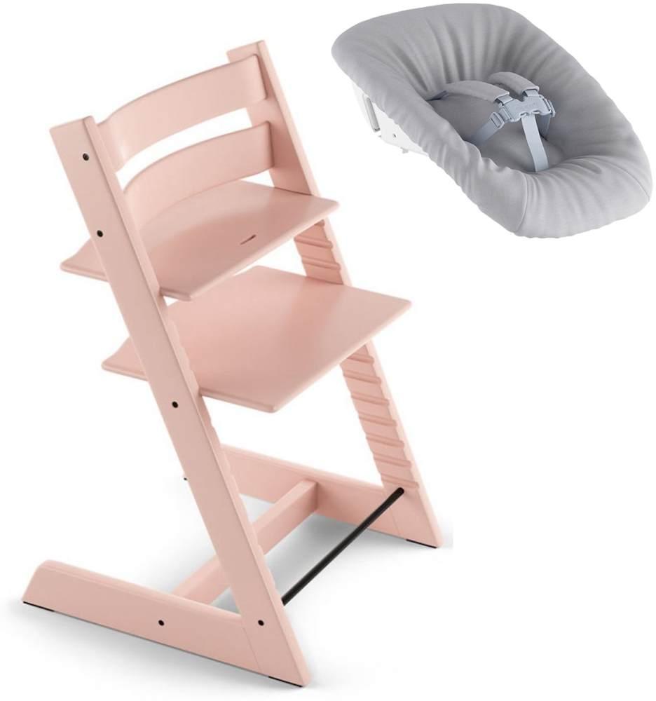 Stokke Tripp Trapp Treppen Hochstuhl inkl. Newborn Set Serene Pink Bild 1