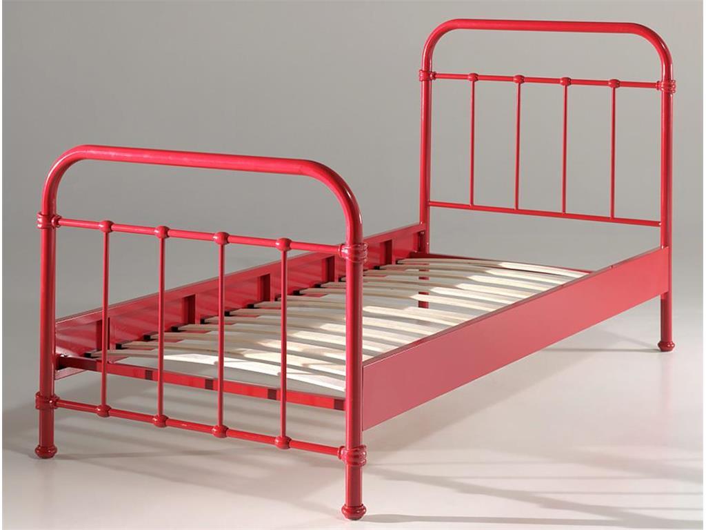 Vipack 'New York' Einzelbett rot, 90x200 cm Bild 1