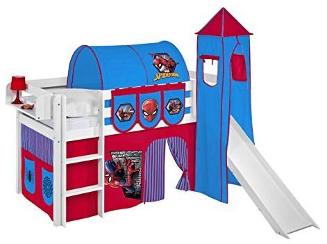 Lilokids 'JELLE' Spielbett 90 x 190 cm inkl. Textilset 'Spiderman' Bild 1