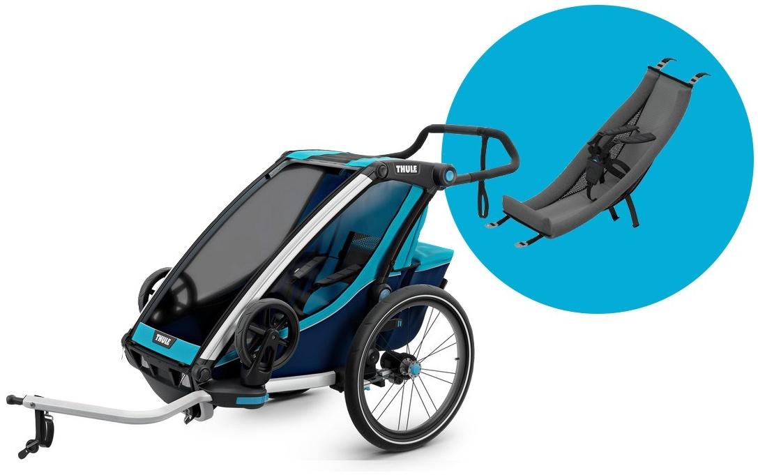 Thule 'Chariot Cross 1' Fahrradanhänger Blau, 1-Sitzer inkl. Babysitz Bild 1