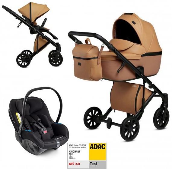 Anex 'e/type' Kombikinderwagen 4plusin1 2020 in Caramel mit Avionaut Babyschale Bild 1