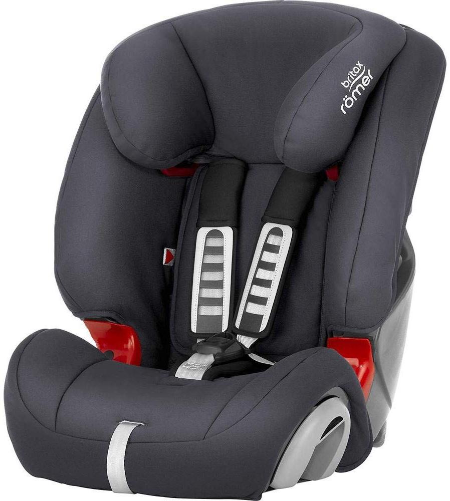 Britax Römer Kindersitz 9 Monate - 12 Jahre I 9 - 36 kg I EVOLVA 123 Autositz Gruppe 1/2/3 I Storm Grey Bild 1