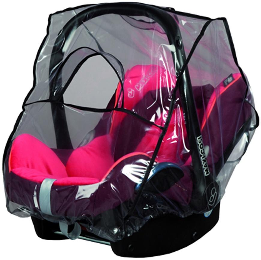 sunnybaby 13224- Universal Regenverdeck, Regenschutz für Babyschale, Baby-Autositz (z.B. Maxi Cosi, Cybex, Kiddy uva.)| Kontaktfenster | abdeckbare Trageöffnung | glasklar | Qualität: MADE in GERMANY Bild 1