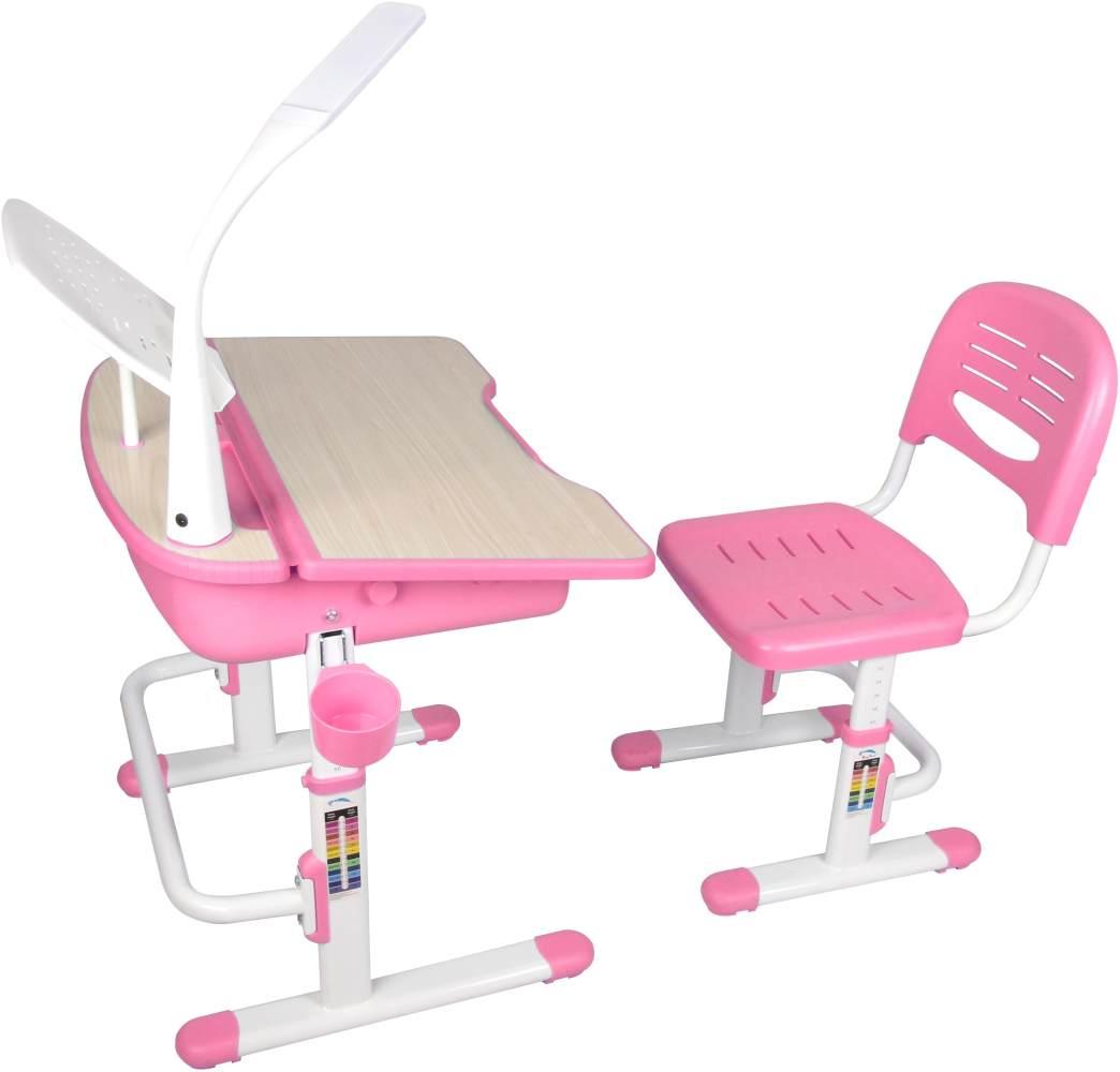 Vipack 'Comfortline' Kinderschreibtisch 301 rosa/weiß, inkl. Stuhl Bild 1