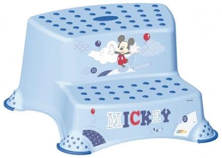 Tritthocker 2-stufig OKT Mickie Mouse hellblau (Baby Plus) Bild 1