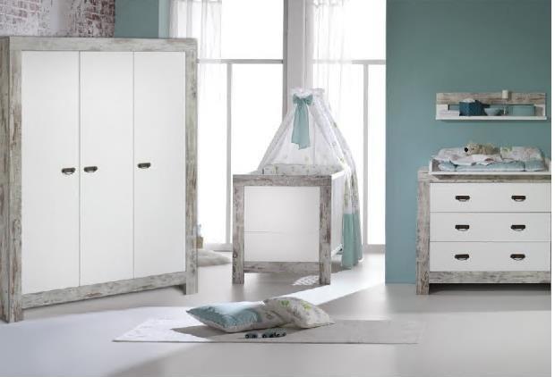 Schardt 'Nordic Chic' 3-tlg. Babyzimmer-Set Schrank 3-türig Bild 1