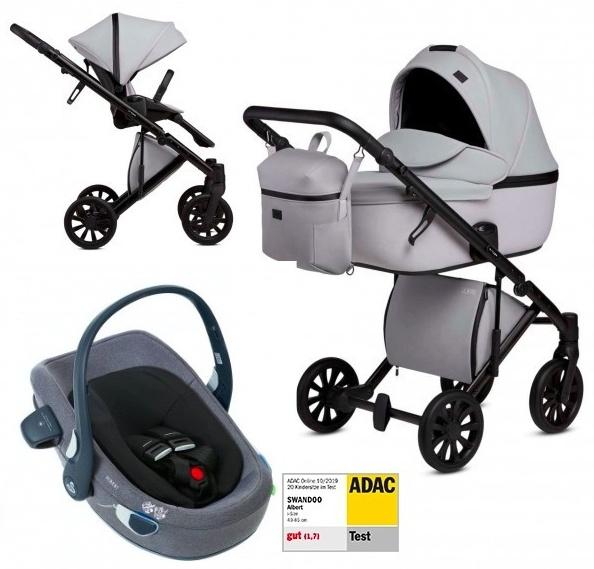 Anex 'e/type' Kombikinderwagen 4plusin1 2020 in Marble mit Swandoo Babyschale Bild 1