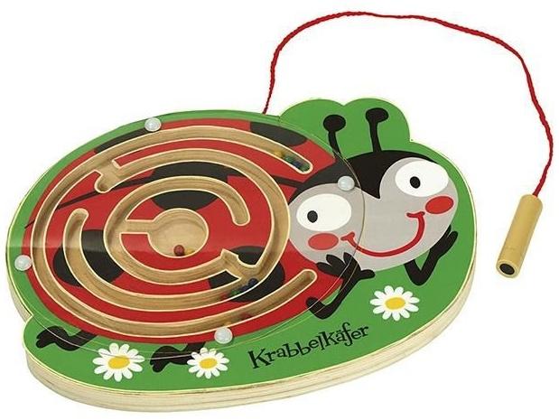 holzlabyrinth mit Magnetpen Marienkäfer Bild 1