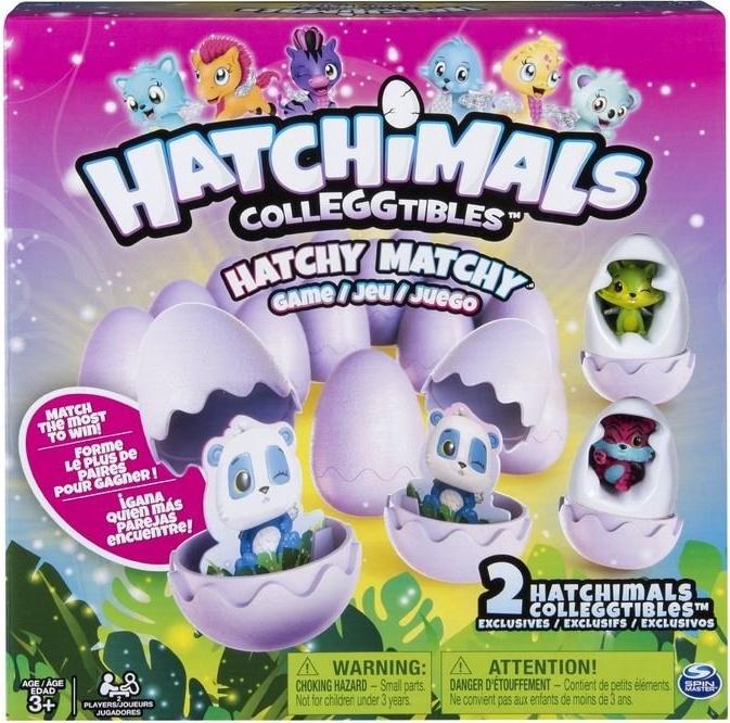 Spin Master Games 6039765 - Hatchy Matchy, Merkspiel für Kinder, 2 exklusive CollEGGtibles Bild 1