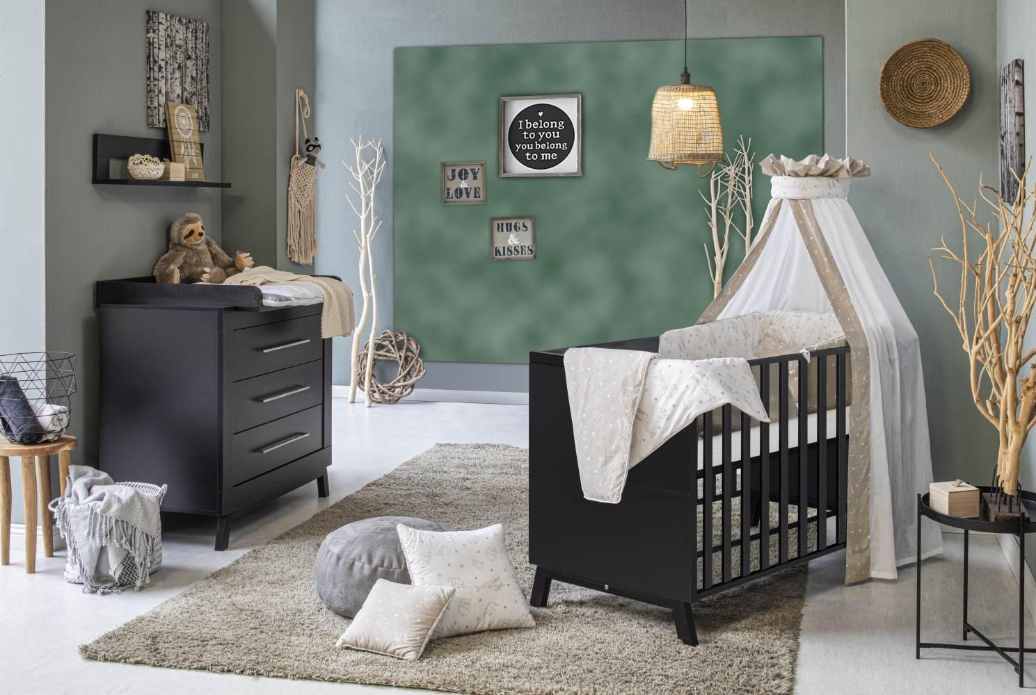 Schardt 'Miami Black' 2-tlg. Babyzimmer-Set, schwarz Bild 1
