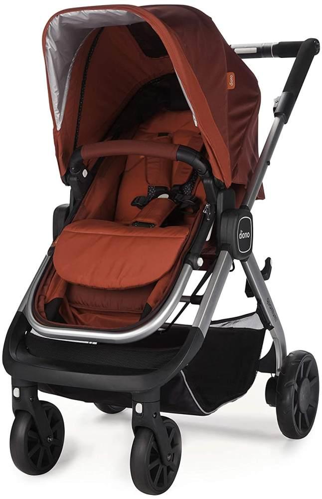 Diono Quantum Kombikinderwagen 2in1 Travelsystem Inklusive Wanne Sitzeinheit Und Adapter Für Babyschale (Red) Bild 1