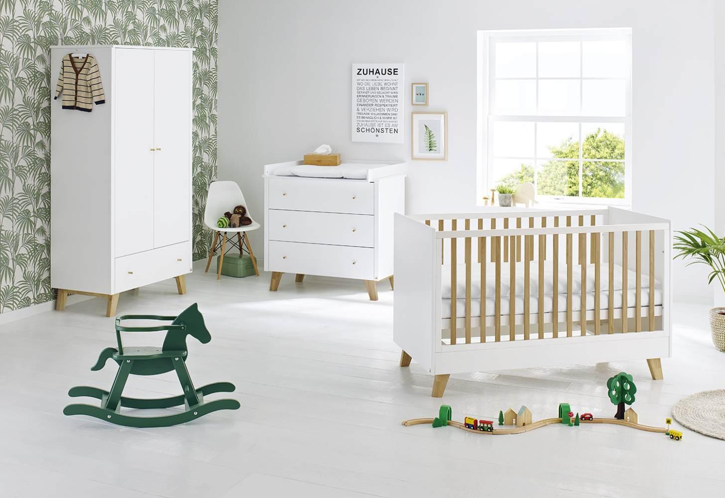 Pinolino 'Pan' 3-tlg. Babyzimmer-Set weiß Bild 1