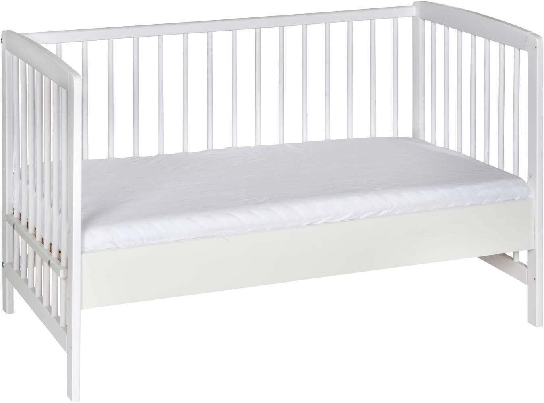 Schardt 'Micky' Beistellbett, weiß, 60x120 cm, inkl. Lattenrost und Umbausteiten, höhenverstellbar, umbaubar Bild 1