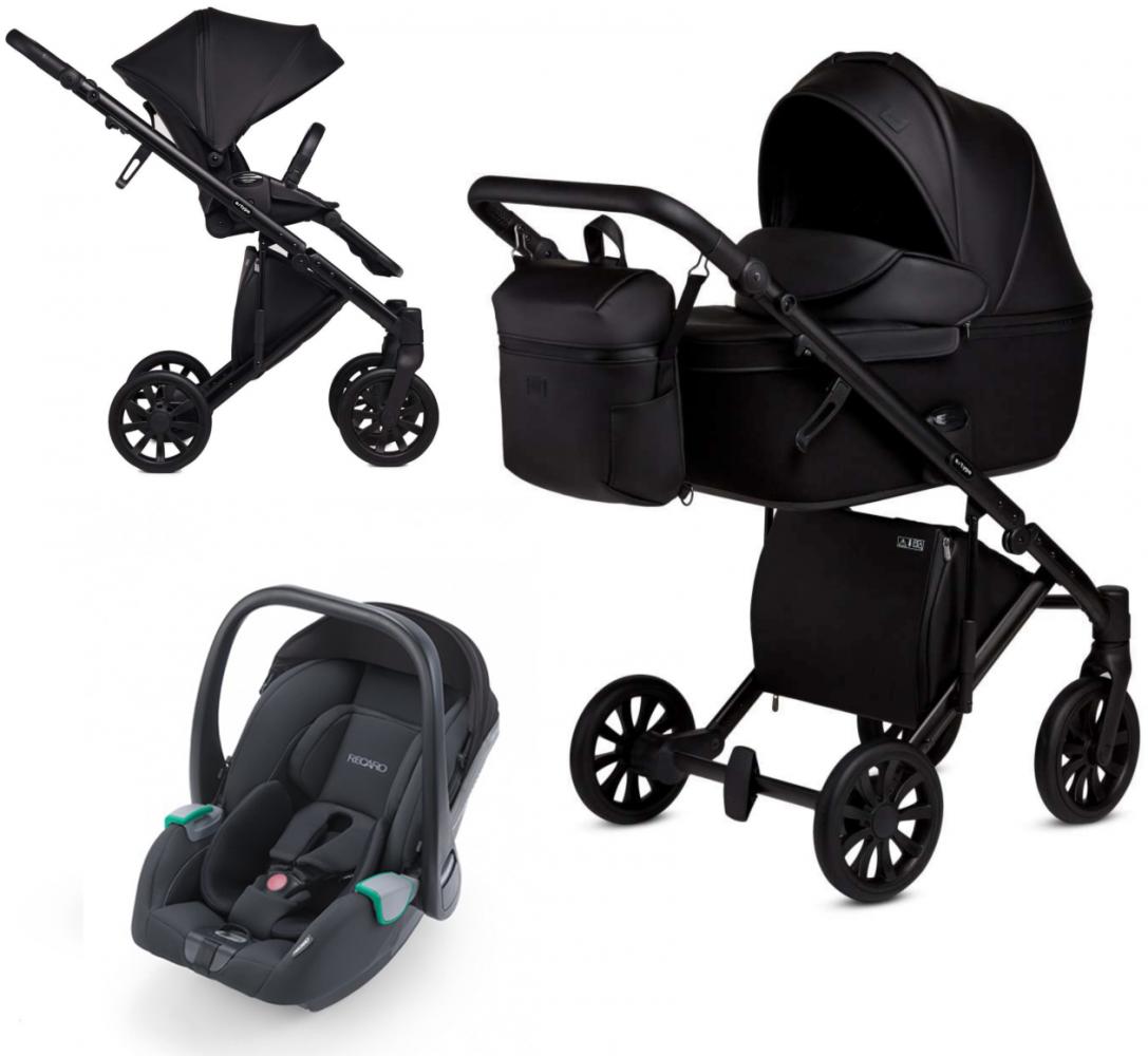 Anex 'e/type' Kombikinderwagen 4 in 1 2020 Noir, inkl. Babywanne und Babyschale Recaro Avan Noir Bild 1