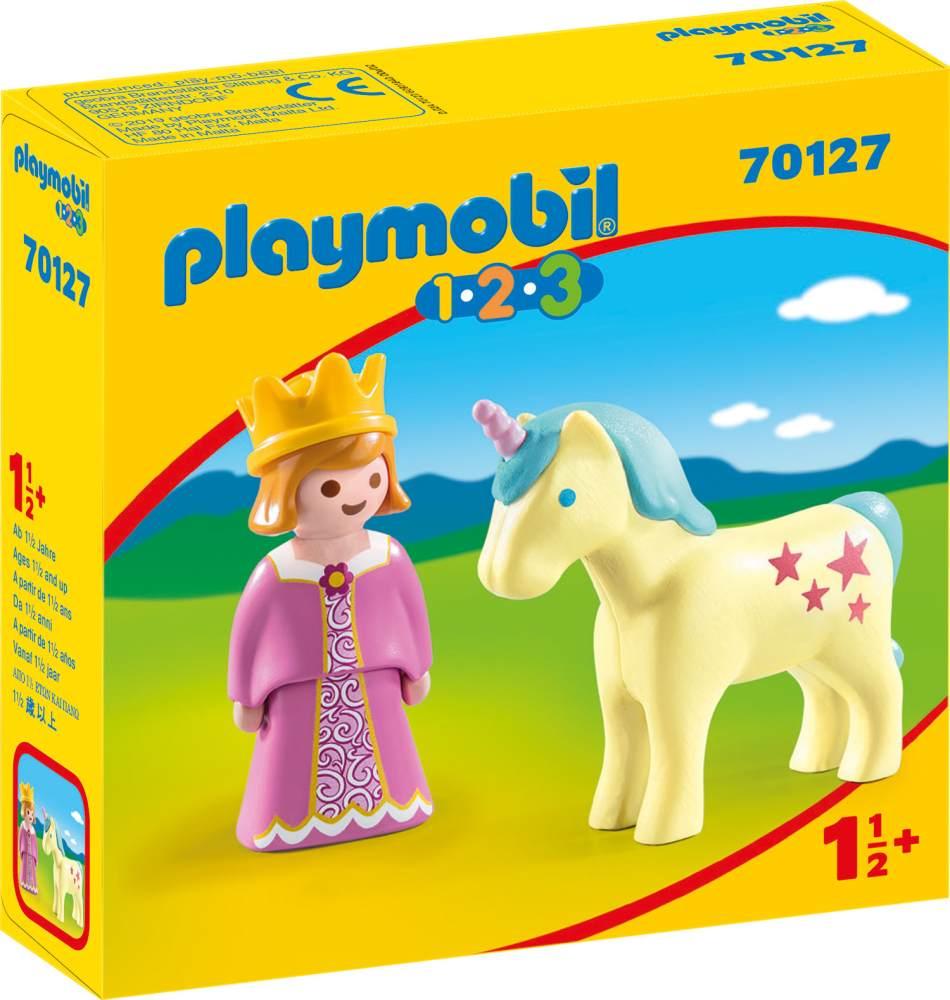 Playmobil 1.2.3. 70127 'Prinzessin mit Einhorn', ab 1,5 Jahren Bild 1