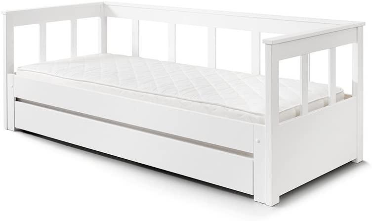 Vipack 'Pino' Funktionsbett weiß, 90 x 200 cm, inkl. Bettschublade Bild 1