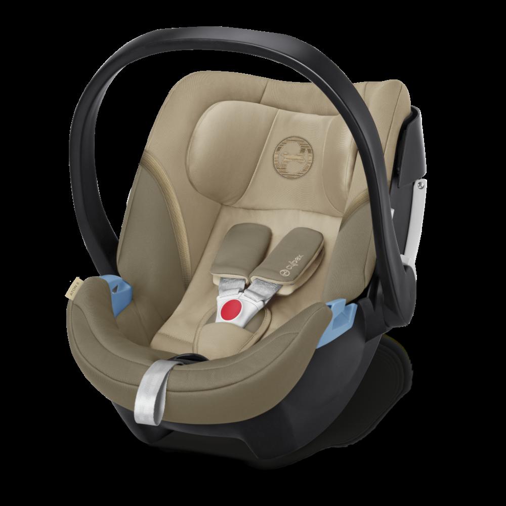 CYBEX 'Aton 5' Babyschale 2020 Classic Beige von 0 bis 13 kg (Gruppe 0+) Isofix Bild 1