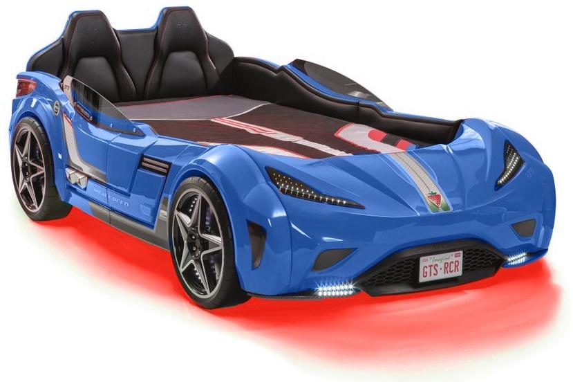 Cilek 'GTS' Autobett 100x190 cm blau inkl. Matratze Bild 1