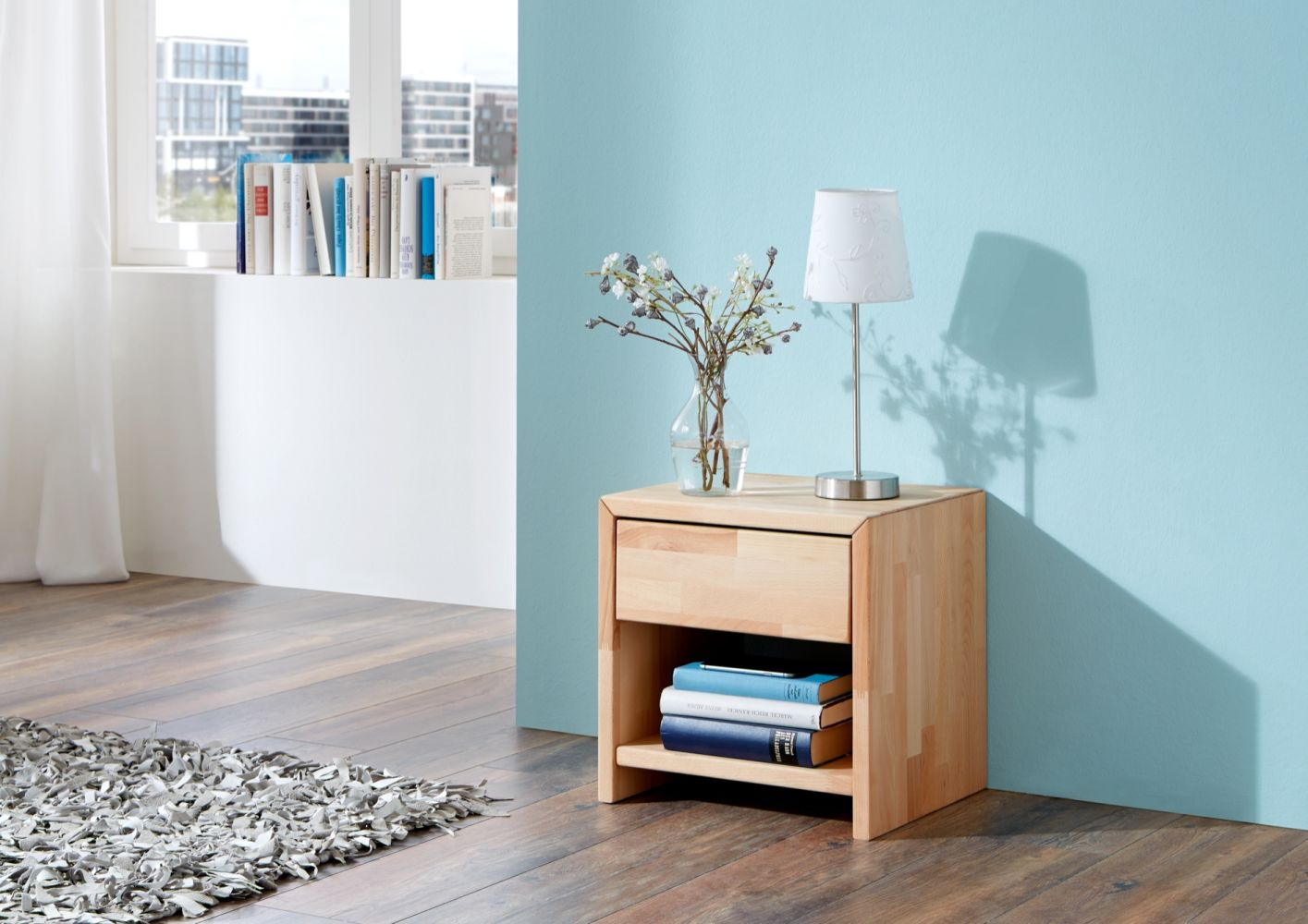 Relita 'Julia' Nachttisch mit 1 Schublade, Buche natur geölt Bild 1