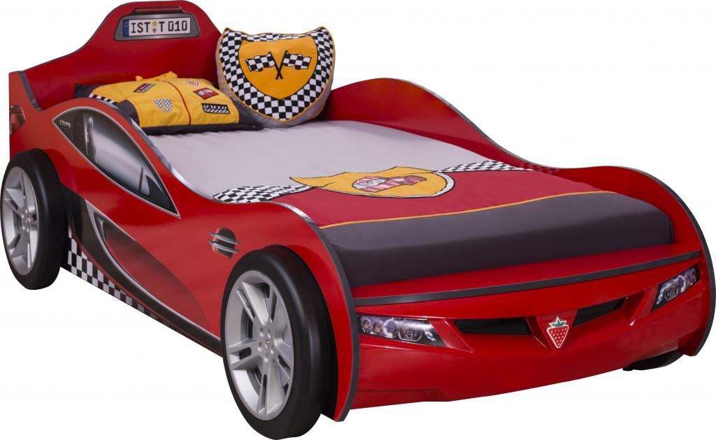 Cilek 'Coupe' Autobett rot inkl. Matratze 90x190 Bild 1