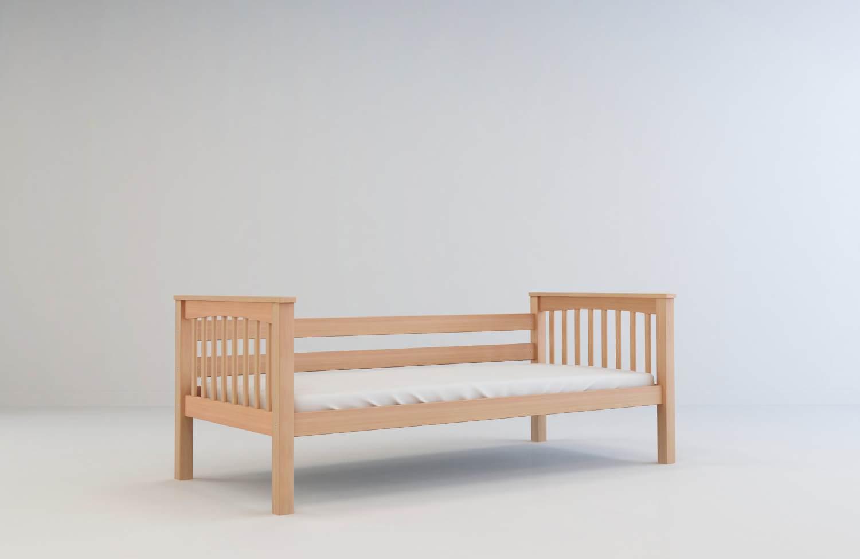 Mobi Furniture 'Lea' Einzelbett 90x200 natur Bild 1