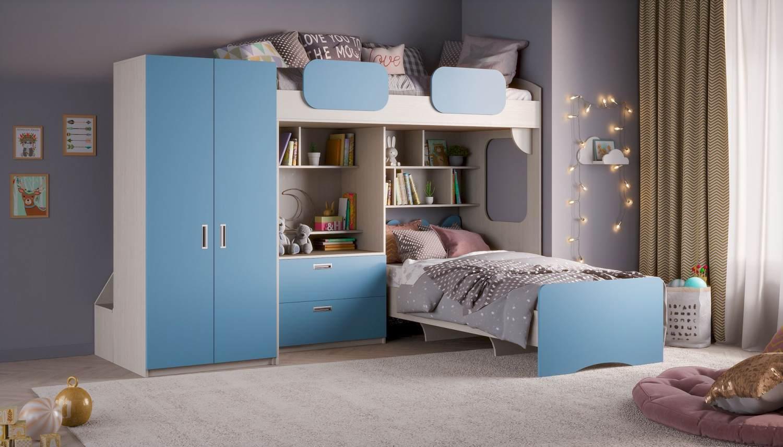 Etagenbett 'Geko XL' blau Bild 1