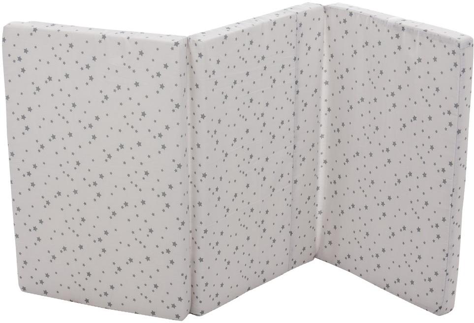 Fillikid 'Exclusiv Sterne' Reisebettmatratze 60 x 120 cm grau/weiß Bild 1