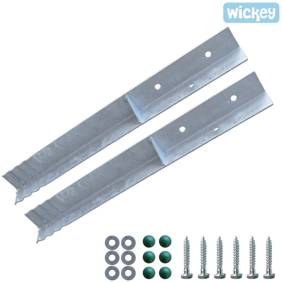 Wickey Winkelanker/Pfostenanker - 2 Stück Befestigungsmaterial Bild 1