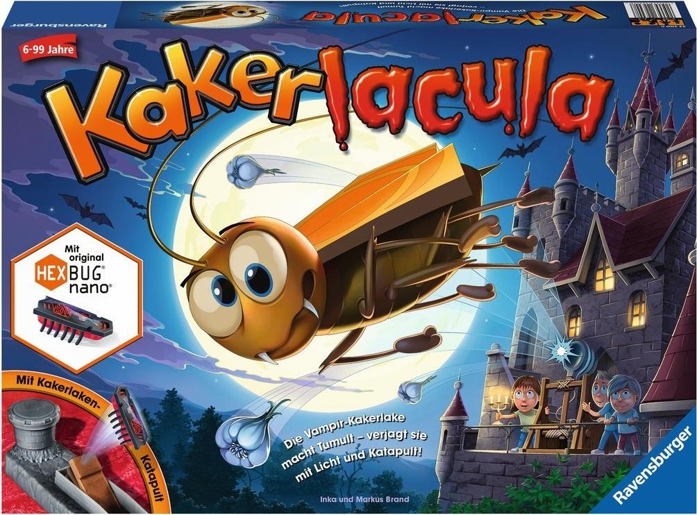 Ravensburger Kinderspiel Kakerlacula, Gesellschafts- und Familienspiel, für Kinder und Erwachsene, für 2-4 Spieler, ab 6 Jahren Bild 1